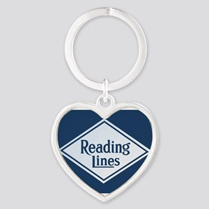 Reading Railroad Logo Blue Keychains