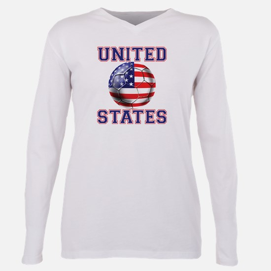 USA Soccer Plus Size Long Sleeve Tee
