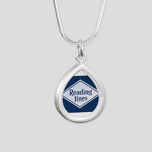 Reading Railroad Logo Blue Necklaces