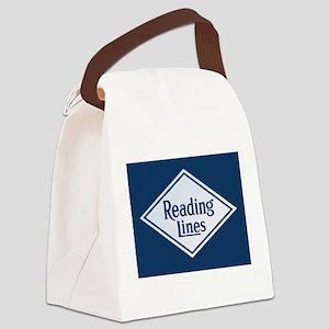 Reading Railroad Logo Blue Canvas Lunch Bag
