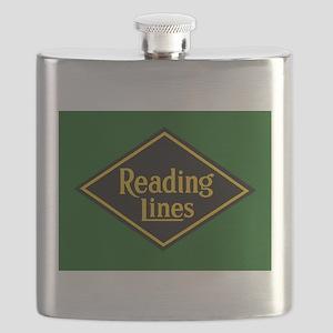 Reading Railroad Logo Green Flask