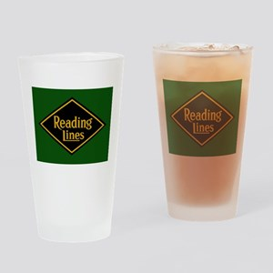 Reading Railroad Logo Green Drinking Glass