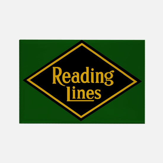 Reading Railroad Logo Green Magnets