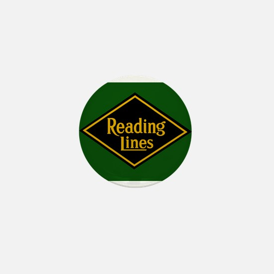 Reading Railroad Logo Green Mini Button