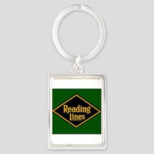 Reading Railroad Logo Green Keychains