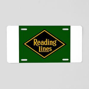 Reading Railroad Logo Green Aluminum License Plate