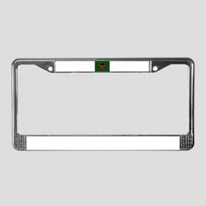 Reading Railroad Logo Green License Plate Frame