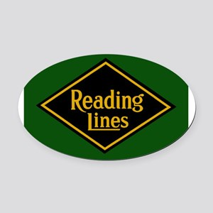 Reading Railroad Logo Green Oval Car Magnet