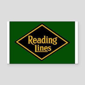 Reading Railroad Logo Green Rectangle Car Magnet
