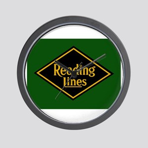 Reading Railroad Logo Green Wall Clock