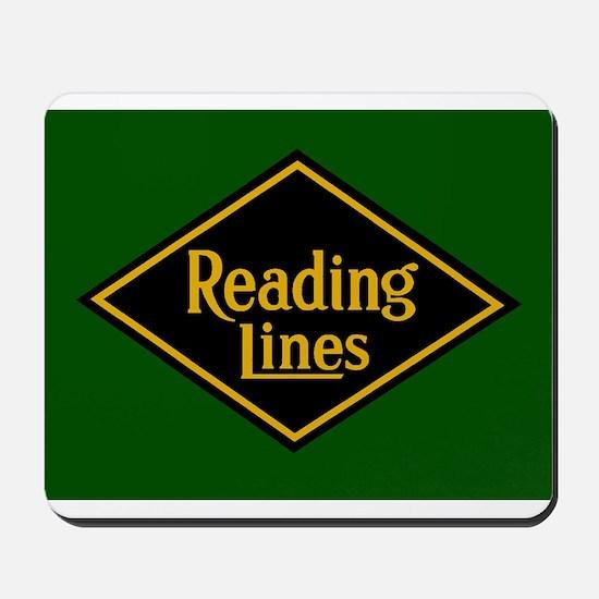 Reading Railroad Logo Green Mousepad
