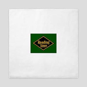 Reading Railroad Logo Green Queen Duvet