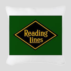 Reading Railroad Logo Green Woven Throw Pillow