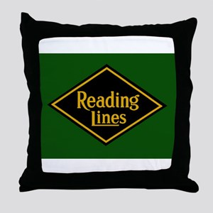 Reading Railroad Logo Green Throw Pillow