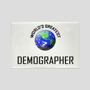 World's Greatest DEMOGRAPHER Rectangle Magnet