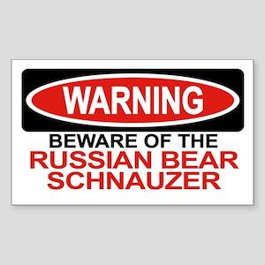 RUSSIAN BEAR SCHNAUZER Rectangle Sticker