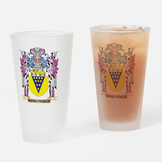 Moneymaker Coat of Arms - Family Cr Drinking Glass