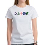 Interfaith: Women's T-Shirt (printed F&B)