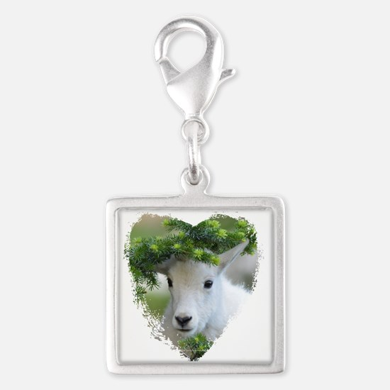 Heart Shape Baby Mountain Goat Charms