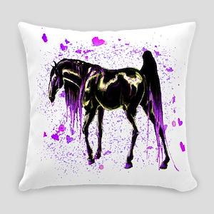 Purple Love Horse Everyday Pillow
