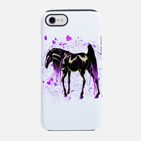 Purple Love Horse iPhone 8/7 Tough Case