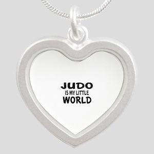 Judo Is My Little World Silver Heart Necklace