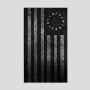 Worn Gray 13 Star Flag Sticker (Rectangle)