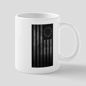 Worn Gray 13 Star Flag Mug