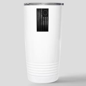 Worn Gray 13 Star Flag Stainless Steel Travel Mug