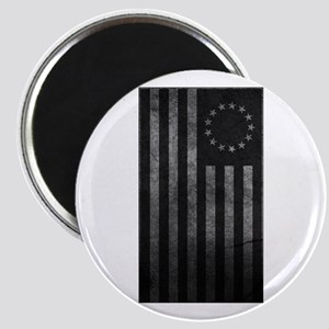 Worn Gray 13 Star Flag Magnet