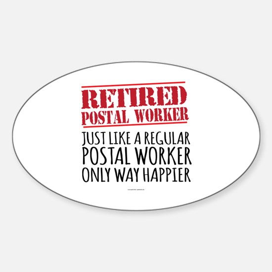 Funny Postal Sticker (Oval)