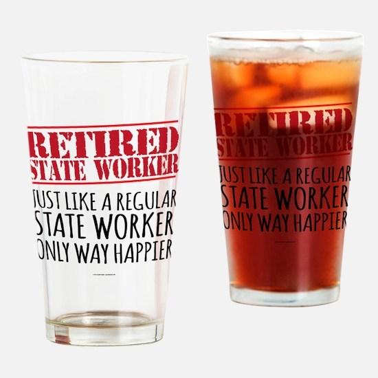 Cute Retirement Drinking Glass