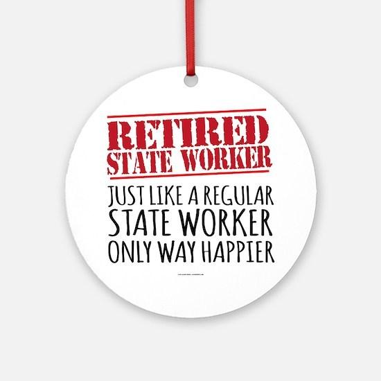 Cool Retirement Round Ornament