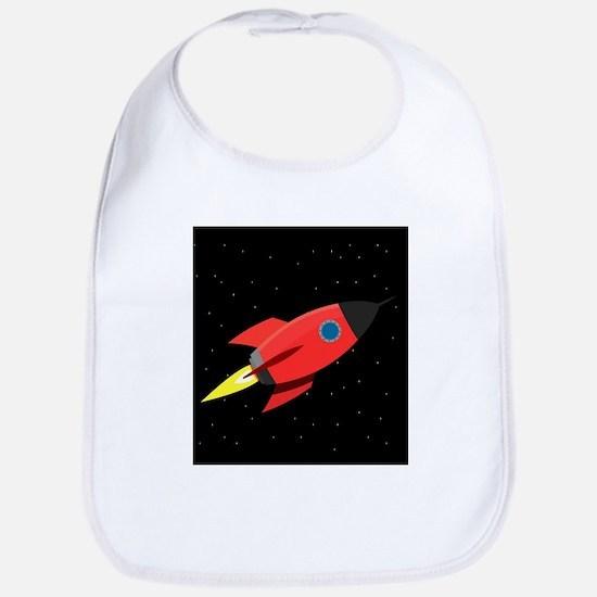 Rocket In Space Bib