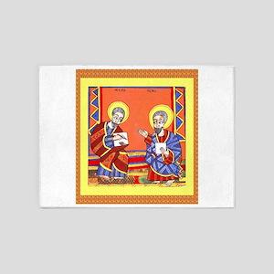 Ethiopian Bible St. Luke and St. Jo 5'x7'Area Rug
