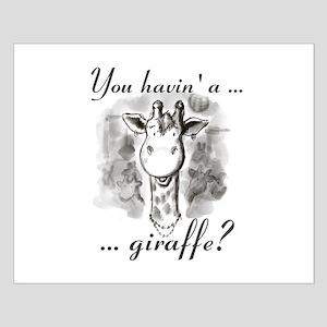 Cockney Giraffe Poster Design