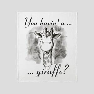 Cockney Giraffe Throw Blanket