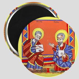 Ethiopian Bible St. Luke and St. John. Magnets
