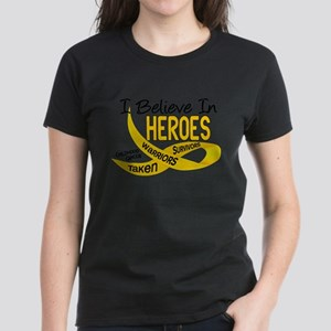 I Believe In Heroes CHILDHOOD CANCER T-Shirt