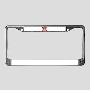 Red Uganda  License Plate Frame