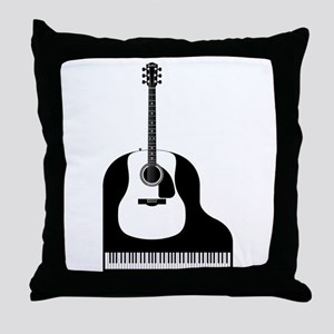 Piano and Guitar Throw Pillow