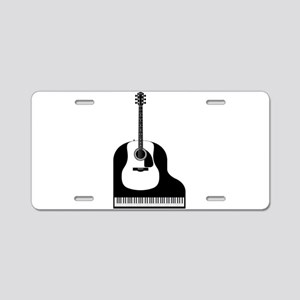 Piano and Guitar Aluminum License Plate