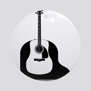 Piano and Guitar Round Ornament