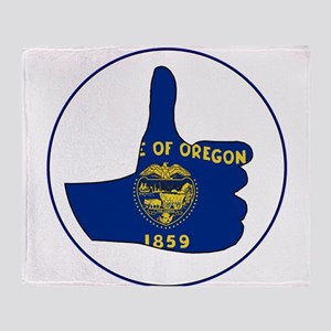 Thumbs Up Oregon Throw Blanket
