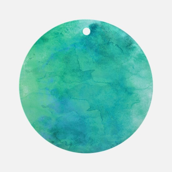 Teal Round Ornament