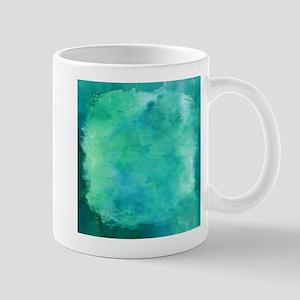 Blue Green Aqua Teal Turquoise Watercolor Pa Mugs