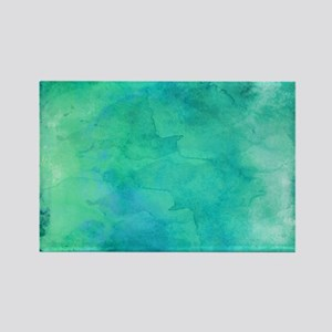 Blue Green Aqua Teal Turquoise Watercolor Magnets