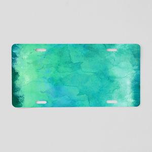 Blue Green Aqua Teal Turquo Aluminum License Plate
