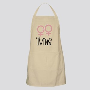 Girl Twins by Leslie Harlow Apron