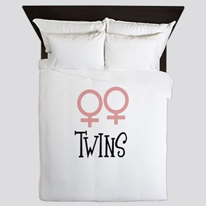 Girl Twins by Leslie Harlow Queen Duvet